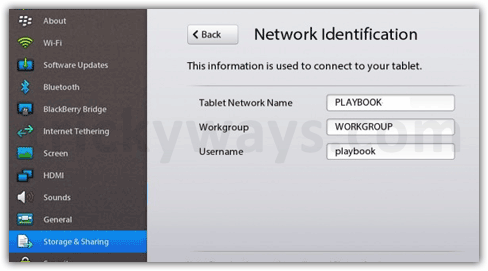 Playbook network identification