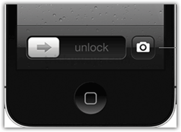 Lock screen camera button