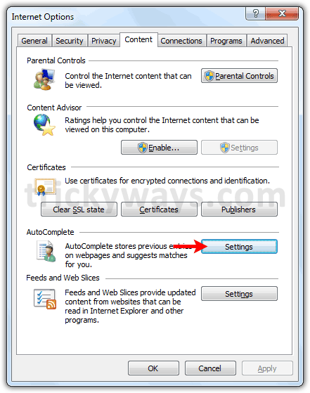ie autocomplete settings