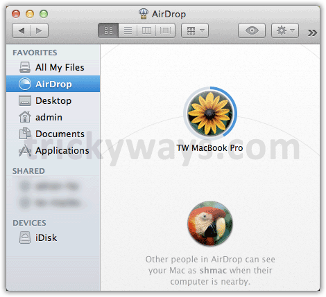 AirDrop receiving files