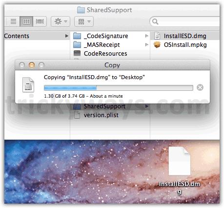 Copying file
