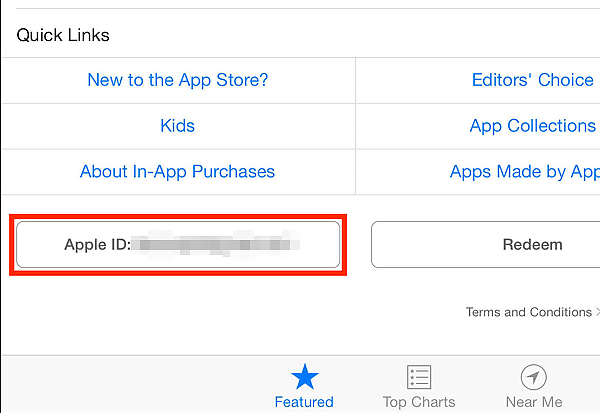 Apple ID app store