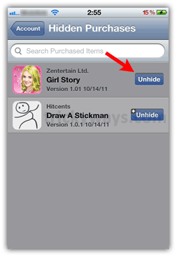 How to Hide / Unhide Apps as of  App Store Purchases on iPhone | iPhone