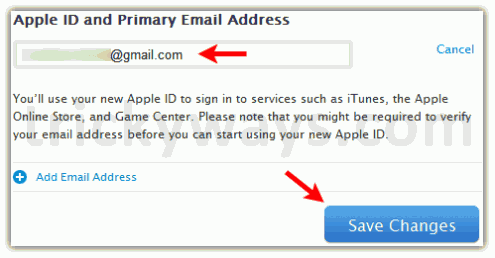 how to change primary email for apple id