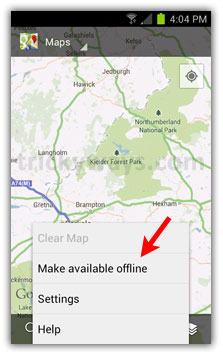 How to Save Maps for Offline Use in Google Maps for Android ... Make Maps Available Offline on print maps, facebook maps, service maps, online interactive maps, advertising maps,