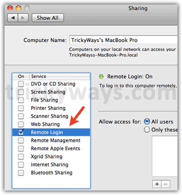 remote-login-on-mac