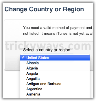 change-iTunes-store-country