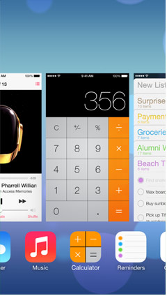 iOS 7 multitaksing