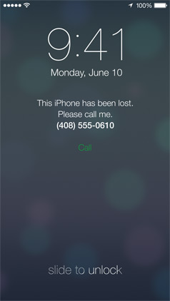 ios 7 find my iphone lost