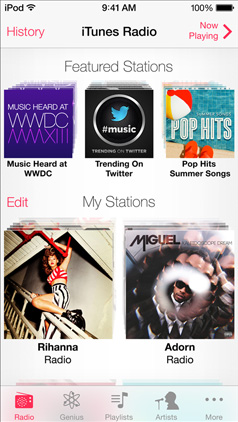 ios 7 itunes radio my stations