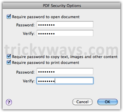 how to make pdf password protected