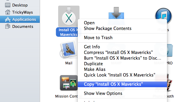 copy os x mavericks