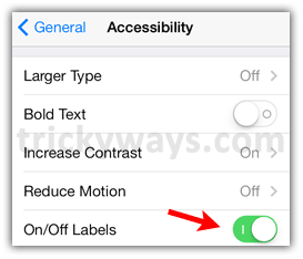 on-off-labels-settings
