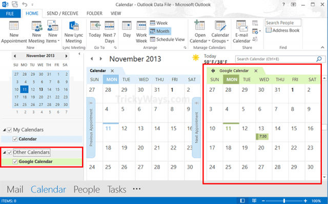 google-calendar-in-outlook-2013