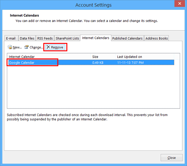 remove-google-calendar-from-outlook-2013