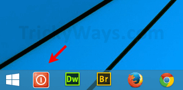 shutdown-icon-on-taskbar
