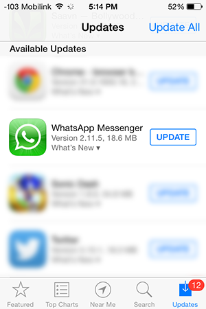 whatsapp messenger update 2115