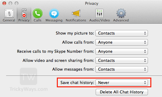 never-save-chat-history-skype-mac