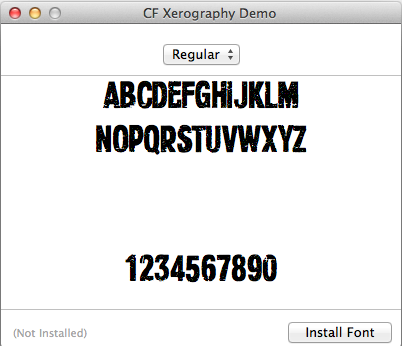 install font on mac os x