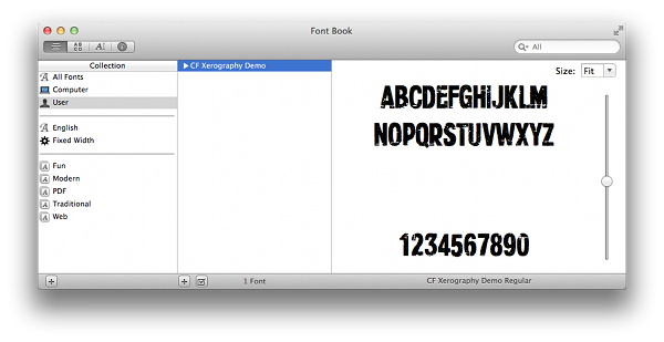 installed font on mac