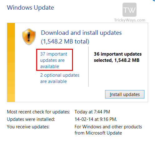 new-windows-update-found