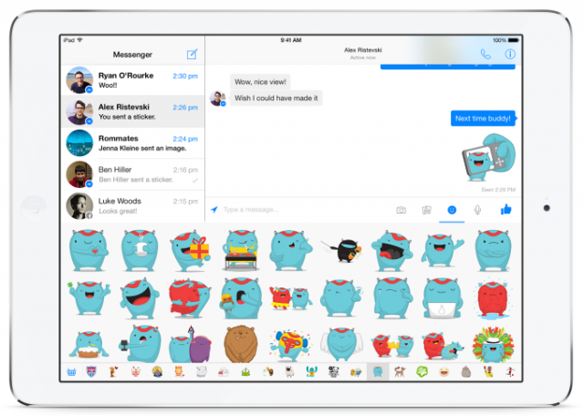 facebook messenger ipad emotions