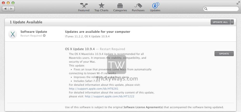 Download OS X 10 9 4 Mavericks Update – Mac OS X