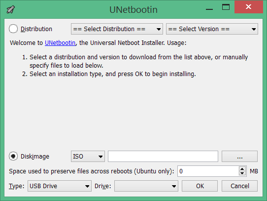 unetbootin android kitkat on pc