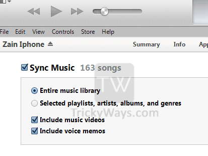 sync music iphone on computer