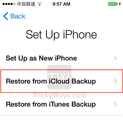 how to restore iphone from icloud backup transfer data from iphone to new iphone 6 or 6 plus 3028