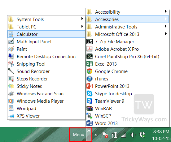 Create Own Start Menu Windows 8