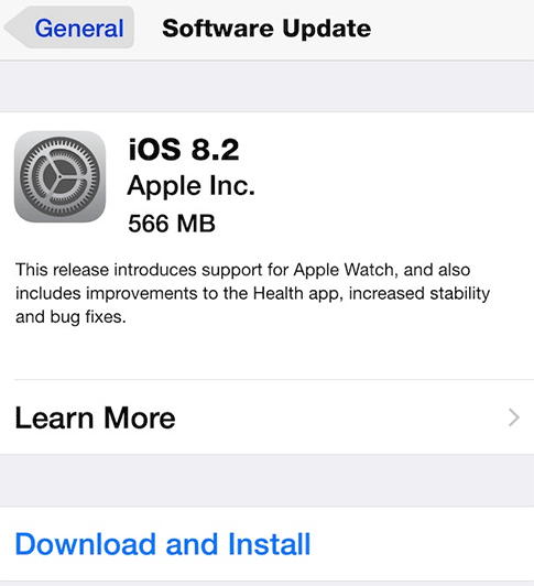 update ios 8.2 iphone, ipad, ipod touch