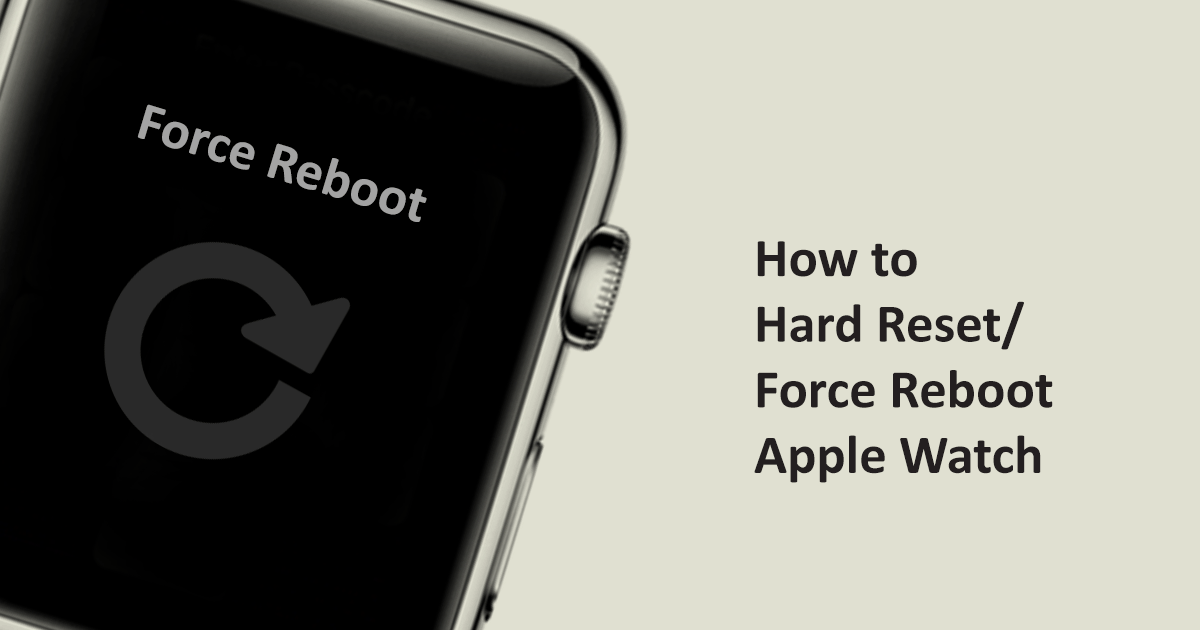 how to force reset apple watch