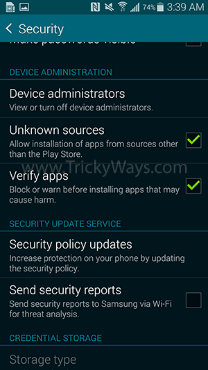 install apk unknown source
