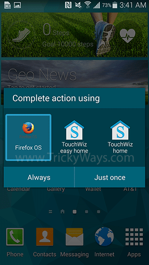 firefox os launcher android