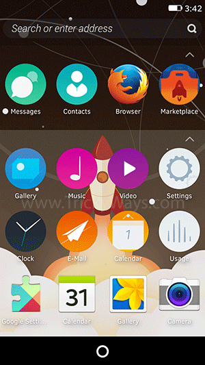 Firefox OS running on android