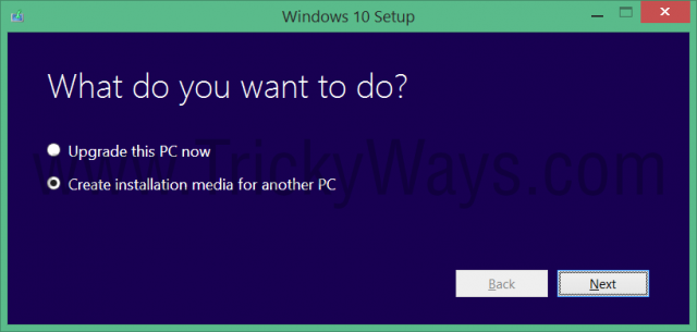 create installation media windows 10