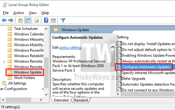 Disable Windows 10 Automatic Updates
