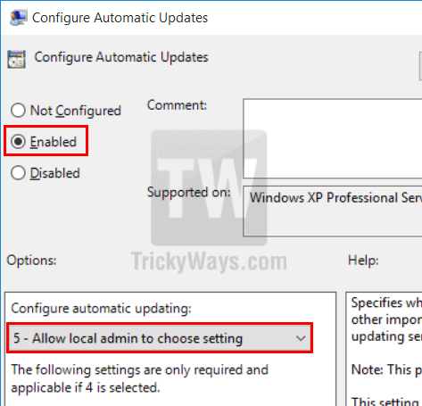 configure windows 10 updates settings