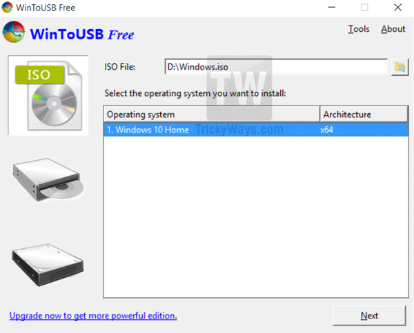 install Windows on USB drive