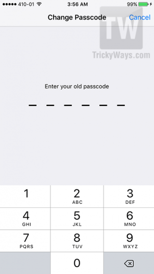 6 digits passcode security ios 9