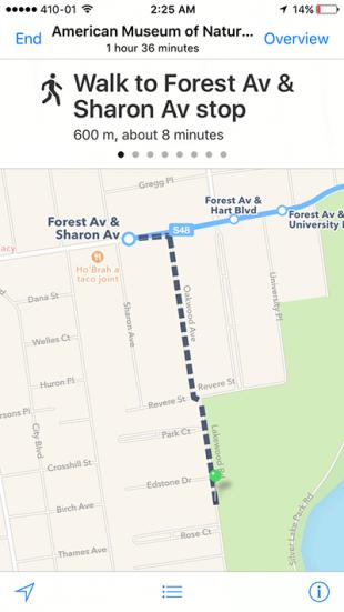ios maps public transit