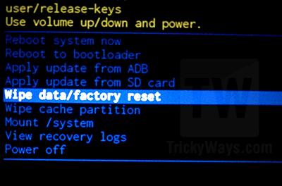 lg nexus 5x factory reset