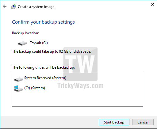 create complete windows backup