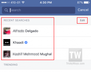How to Clear Facebook Search History from iOS, Android App or Browser