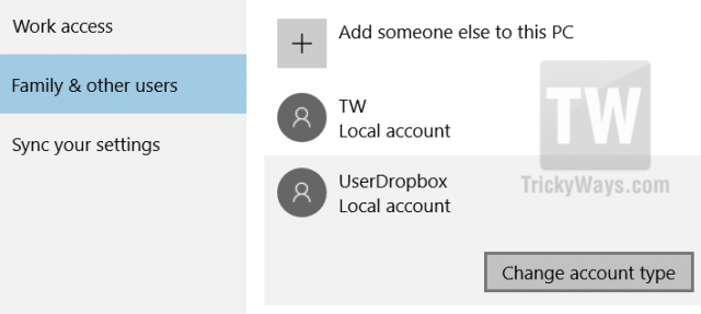 change-user-local-account-type-windows-10