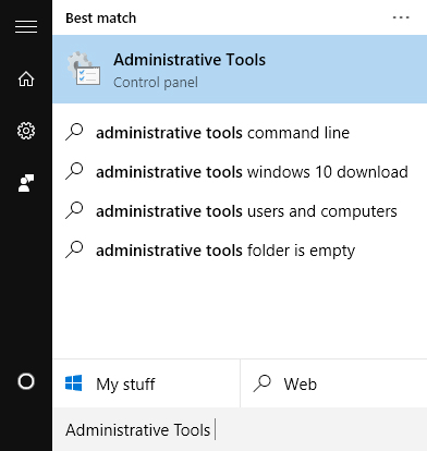 open-administrative-tools-windows-10
