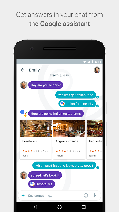 google assistant help sto answer in allo