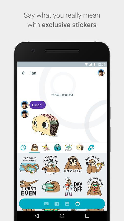 google allo chat stickers