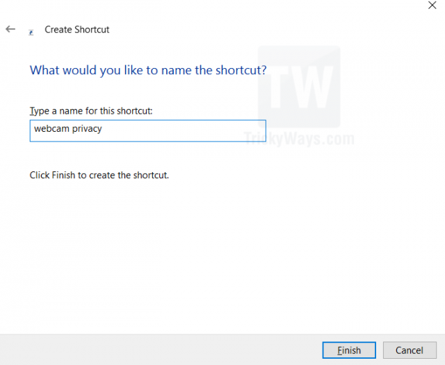 name settings shortcut